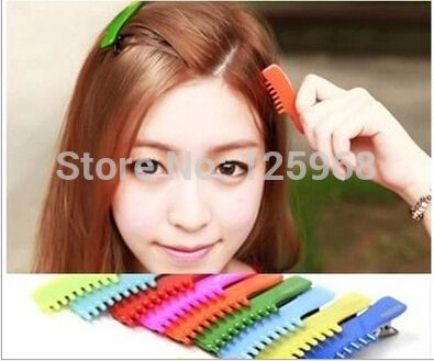 Free Shipping 2014 New Wholesale 20pcs/Lot Cute Girls Neon Color Comb Hair Clip Fashion Women Hair Accessories