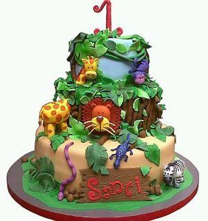 MuyAmeno.com: Tortas de Animales de la Selva, Safaris, para Fiestas Infantiles