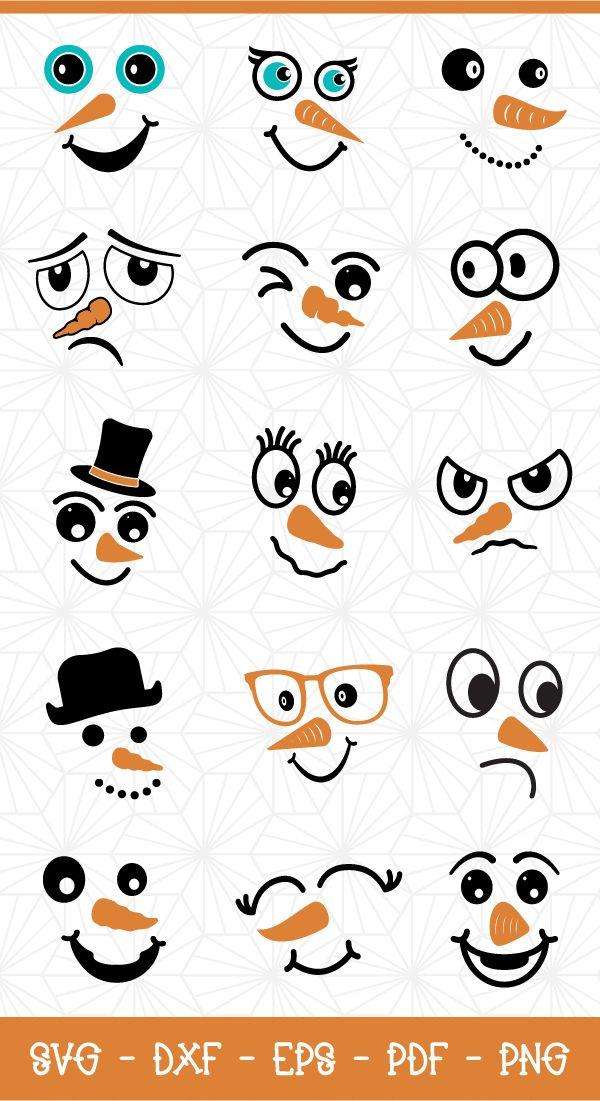 Download Snowman Faces Svg Bundle Funny Snowman Snowman Faces Svg