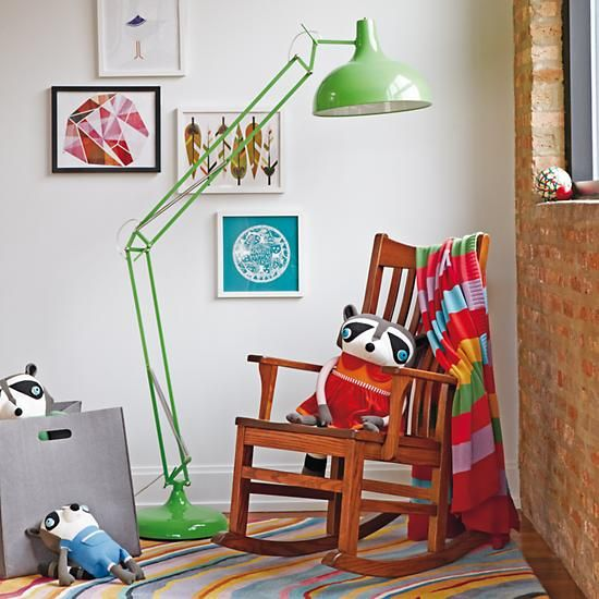 The Land of Nod | Kids Lighting: Giant Green Floor Lamp in Floor Lamps