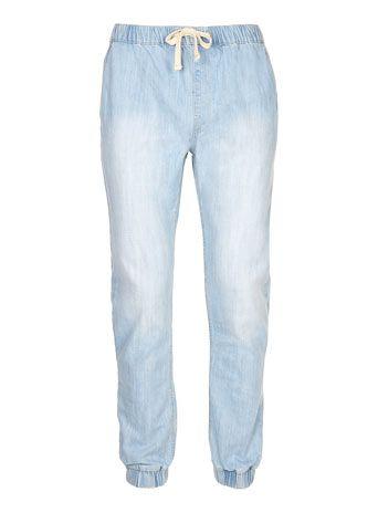 Bleach Denim Jogging Bottoms - Men's Jeans  - Clothing