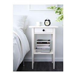 IKEA - HEMNES, Sivupöytä, valkoiseksi petsattu, , Helposti avattavassa ja suljettavassa laatikossa on pysäyttimet.Massiivipuuta, kestävää ja kaunista luonnonmateriaalia.