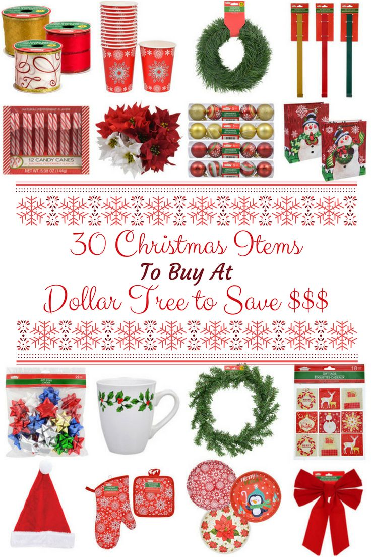 30 Christmas Items to Buy at the Dollar Tree To Save Money