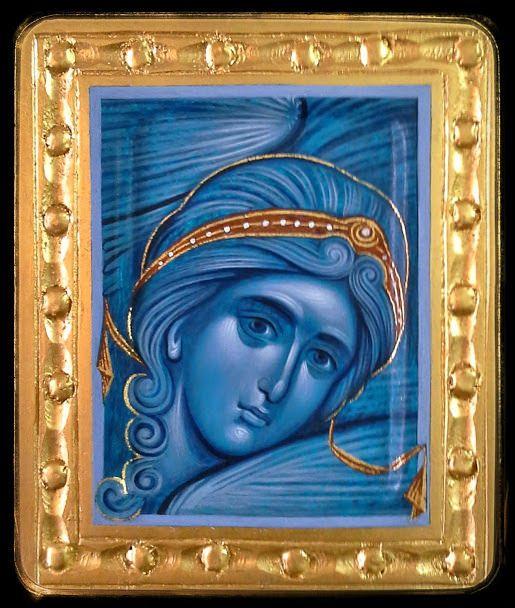 Angel icon by Aleksandra Graovac of Serbia