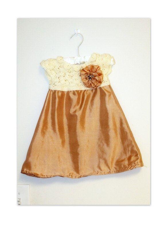 Pattern: Girls Dress with Crochet Yoke and Fabric Skirt