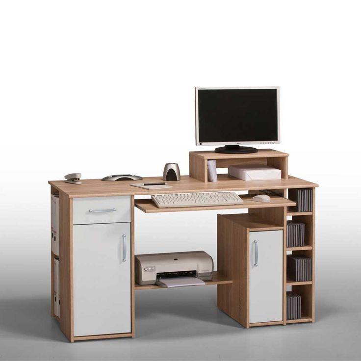 Computer-Schreibtisch mit Bildschirmaufsatz Eiche-Weiß Jetzt bestellen unter: https://moebel.ladendirekt.de/buero/tische/schreibtische/?uid=d578f7be-a35d-5879-ba0d-398a9d660e15&utm_source=pinterest&utm_medium=pin&utm_campaign=boards #tischgestell #computerschreibtisch #tische #schülerschreibtisch #computer #buero #jugendschreibtisch #edv #tisch #computertisch #schreibtisch #büroschreibtisch #schreibtische