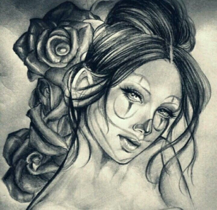 1000 ideas about chicano drawings on pinterest lowrider for Chicano clown girl tattoos