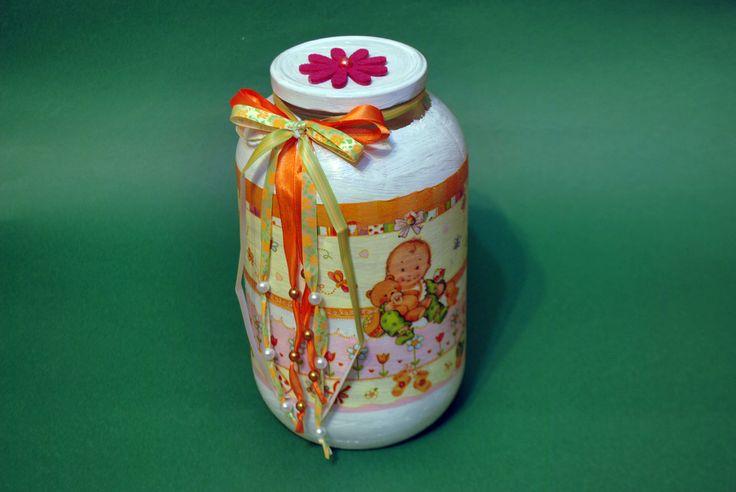 Borcan decorativ ptr botez (45 LEI la pia792001.breslo.ro)
