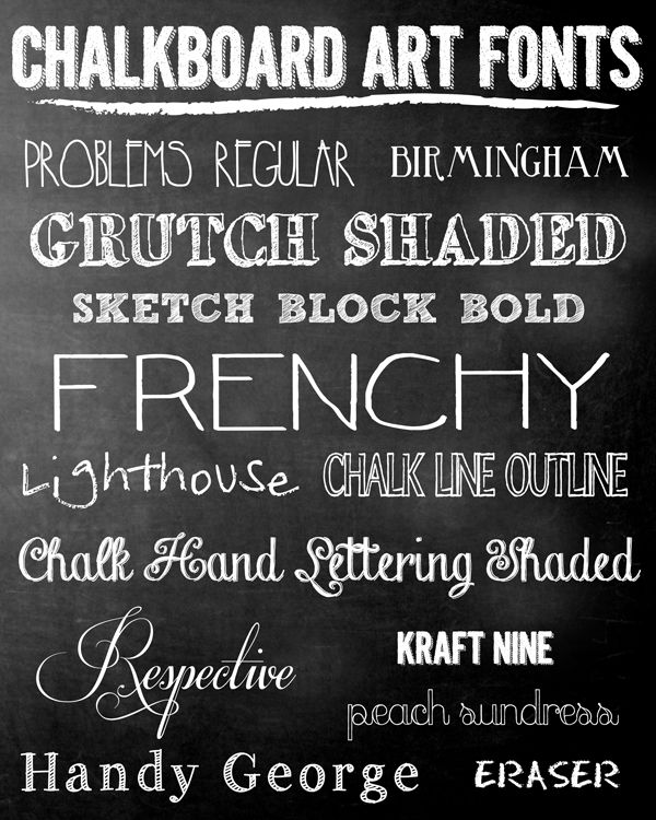 Pen N' Paperflowers: iNSPiRE | FREE Chalkboard Fonts + Holiday Art Prints