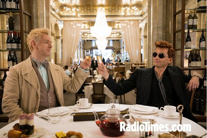 Good Omens exclusive: David Tennant and Michael Sheen look devilish and divine in new series photos