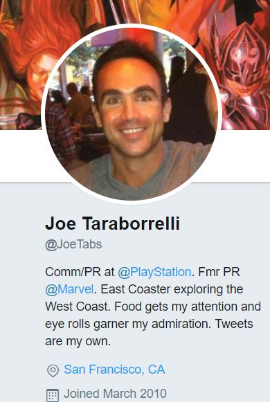 """Joe Taraborrelli Leaves Marvel For Playstation, Will Know The Next Equivalent Of """"Remote Play"""" Before Any Of Us"""