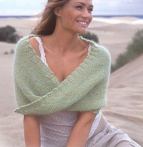 Lär dig att sticka en moebius sjal  