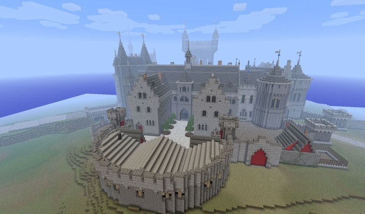 minecraft castle | Due to the large scale you will feel very small and close to the floor ...