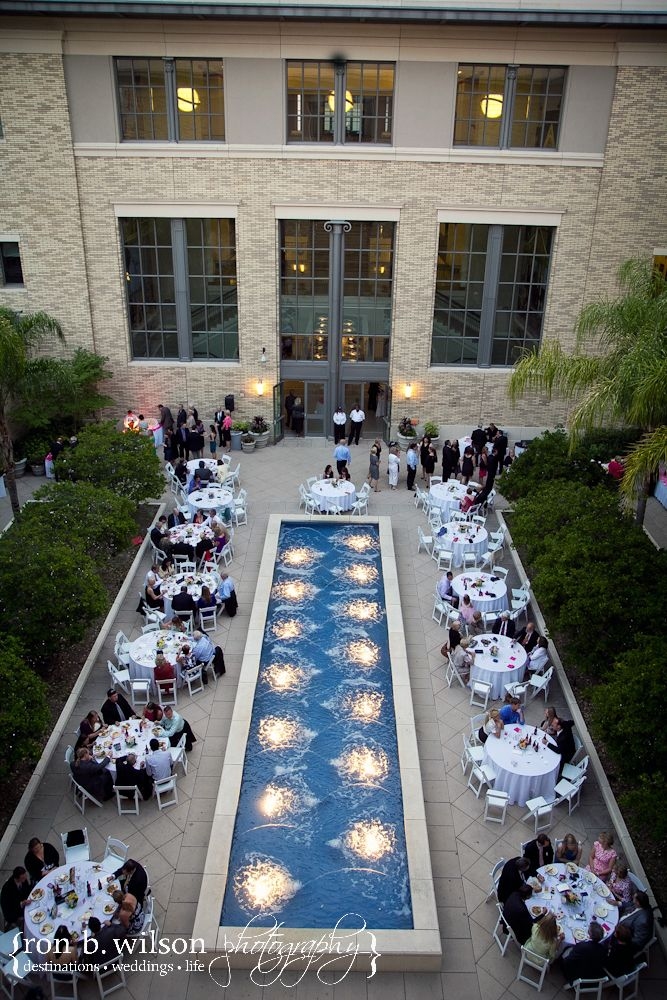 The Courtyard Fountain At Jacksonville Public Main Library Is A Stunning Feature Adding Elegance To Any Wedding Reception