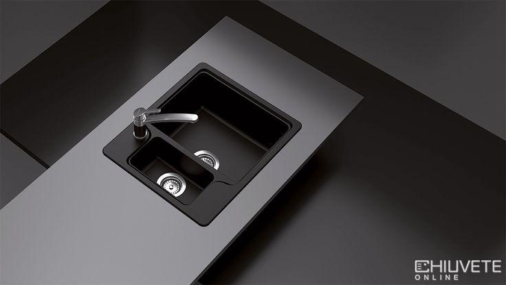 Chiuveta dispune de 4 gauri prefrezate si posibilitatea de a accesoriza un dozator de sapun lichid. Gaura pentru baterie poate fi adaptata de catre instalator conform solicitarilor individuale.