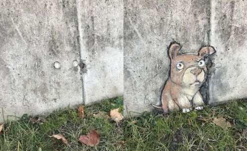 """Before and after views of a wall that refused to stop staring at me yesterday."""