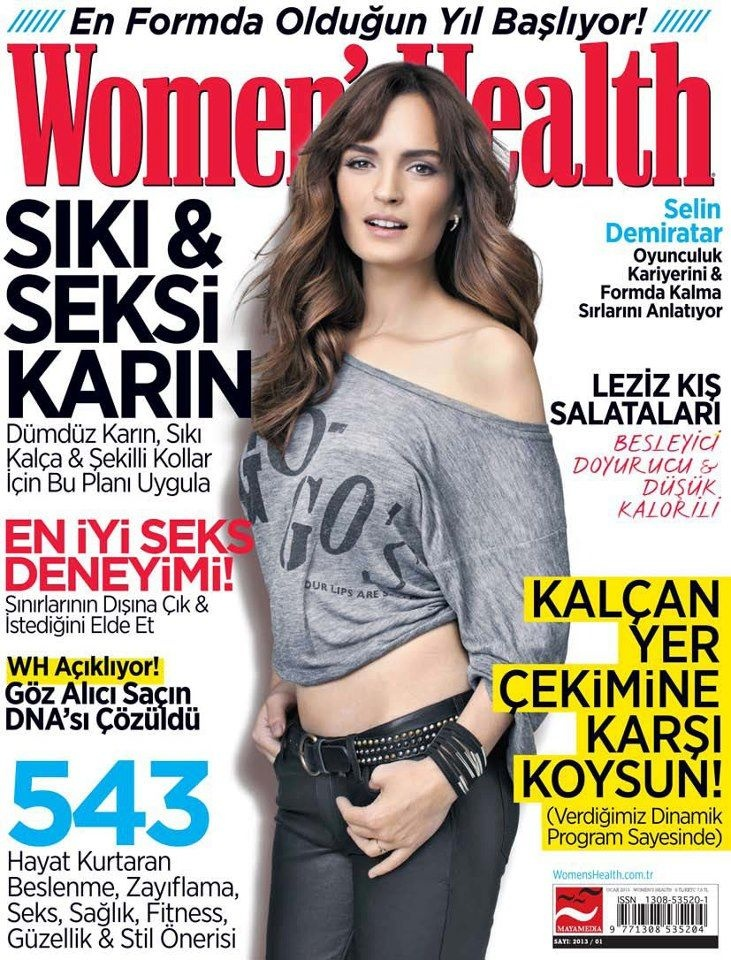 Selin Demiratar - Women's Health Magazine Cover [Turkey] (January 2013)
