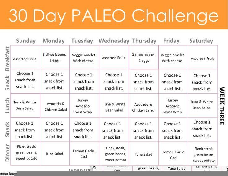 30 day menu