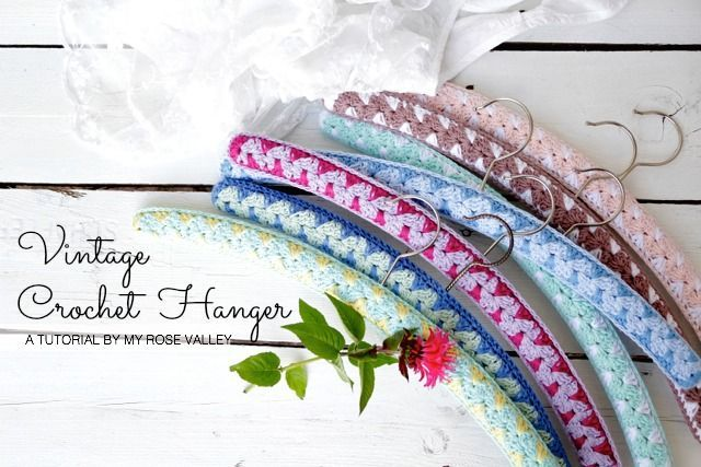 Vintage Crochet Hanger Tutorial | My Rose Valley | Bloglovin'