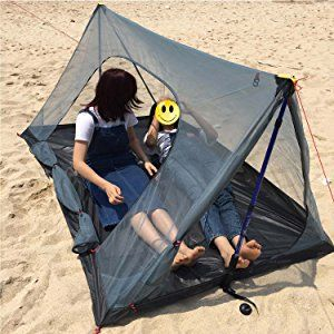Amazon | FLYFLYGO モスキートネット (蚊帳) 超軽量携帯式テント ポールなし キャンピング、キャンプ、アウトドアにおすすめ | 防虫・殺虫用品 | Sports 通販