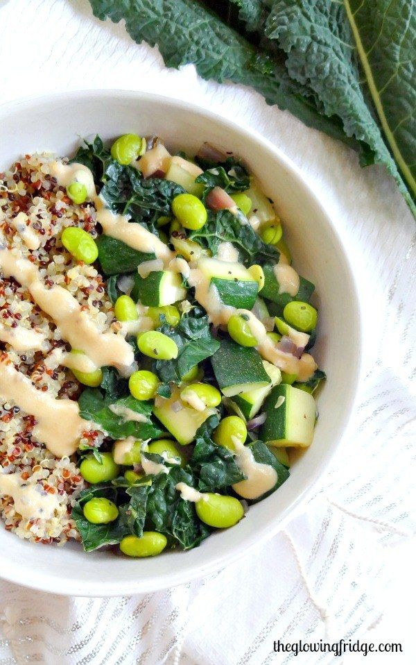 Der göttliche grüne Glow-Bowl | 21 Abendessen, die Du in maximal 20 Minuten zubereitest