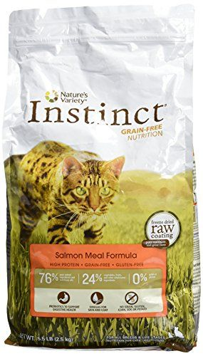 Natures Variety Instinct GrainFree Salmon Meal Formula Dry Cat Food 55 lb Bag -- Check this awesome product by going to the link at the image.
