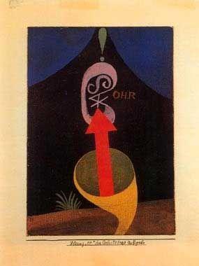 Obra de Paul Klee en el Cartapacio que profesores de la Bauhaus hicieron para Walter Gropius. | Bauhaus... Un regalo para Gropius en el blog del Observatorio Español del Diseño