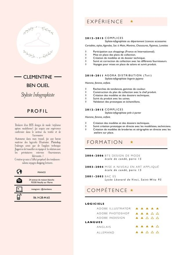 Fashion Resume Templates 111 Best Reconversion Images On Pinterest  Resume Templates