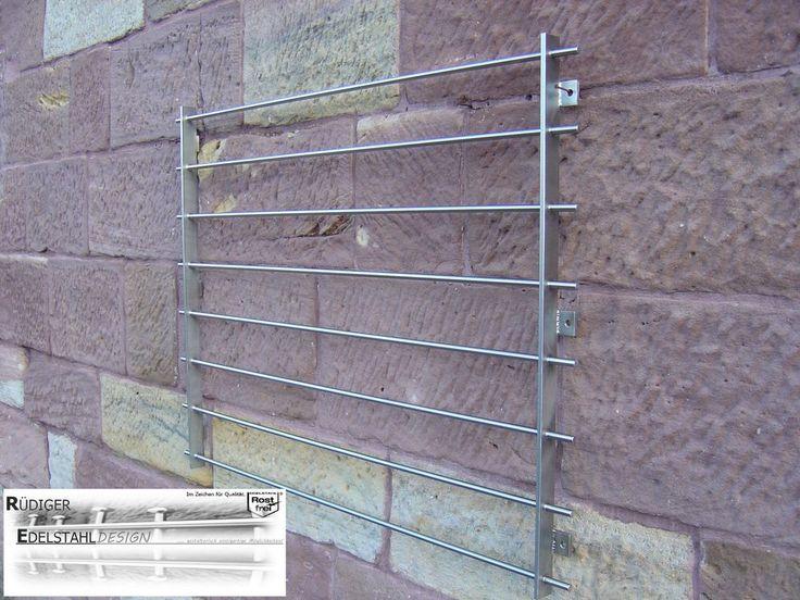FGM-007 Edelstahl Fenstergitter Sicherheitstechnik Einbruchschutz Schutzgitter