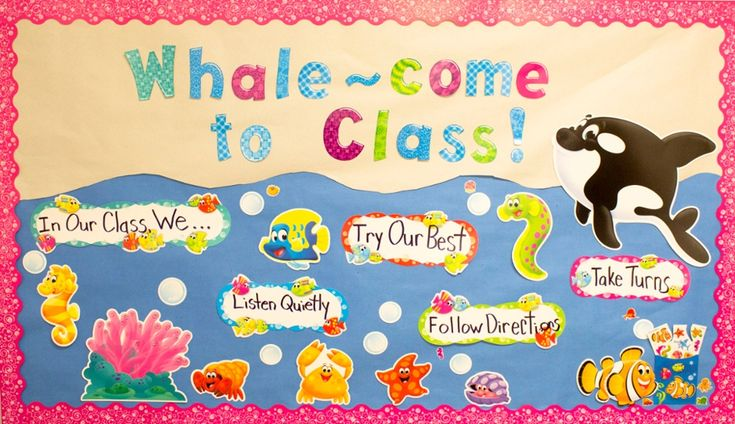 TOUCH this image: Trend Enterprises Sea Buddies Bulletin Board by Classroom Direct