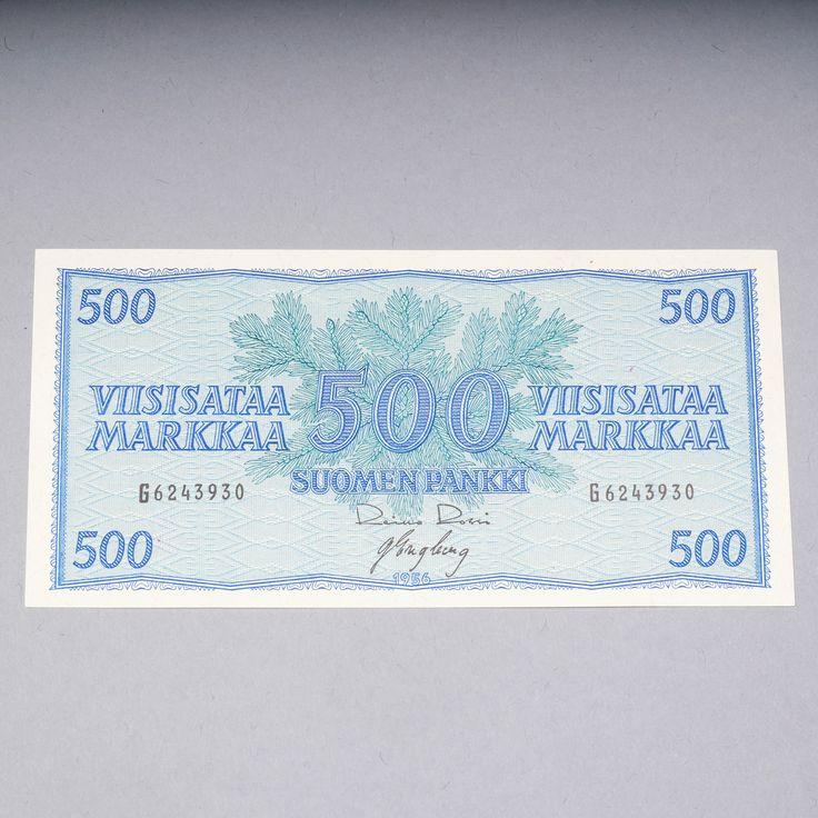 500 markkaa, Suomi, seteli vuodelta 1956.