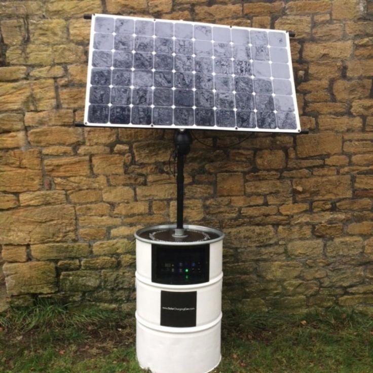 Portable solar kit in a barrel sets up in 30 minutes for off-grid use