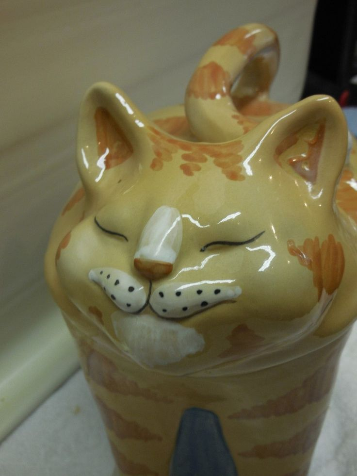 Adorable Louisville Stoneware Cat Cookie Jar Too Cute | eBay