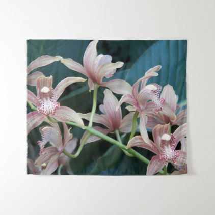 Tropical Orchids Floral Medium Tapestry - floral style flower flowers stylish diy personalize