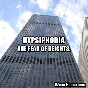 Hypsiphobia- fear of heights
