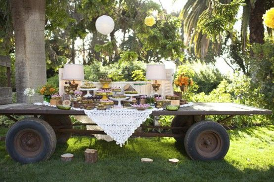 such a cute dessert table idea