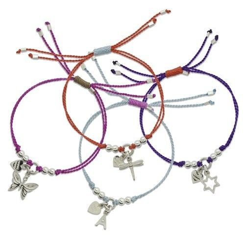Annie Haak Teeny Weeny Sterling Silver & Silk Cord Friendship Bracelets, £28.00 Available in our Braintree store and online at www.feveraccessories.com