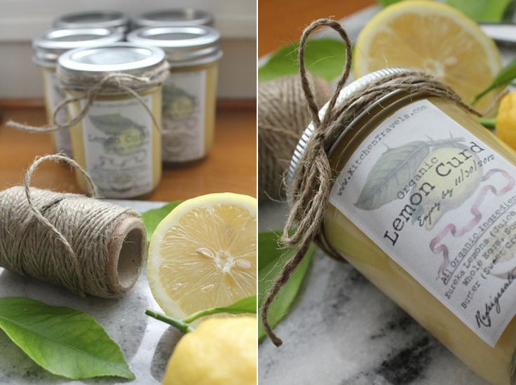 Kitchen :: Homemade Jam Jar Labels. This is the label I designed for my lemon curd. YUM.