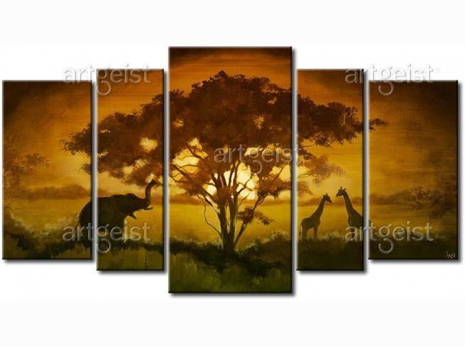 Trend Wohnzimmer oder Schlafzimmer im Ethno Stil Lernen Sie unsere Kollektion von handgemalten Wandbildern Afrika
