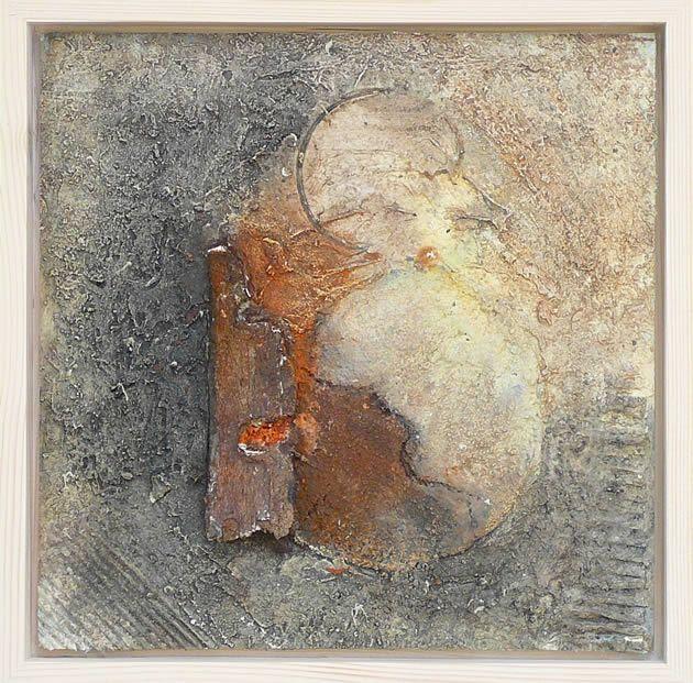 Materialen Dit schilderij heb ik geschilderd met acryl op mdf en daarbij heb ik gebruik gemaakt van gesso, structuurpasta, zand, karton en natuurlijke mate