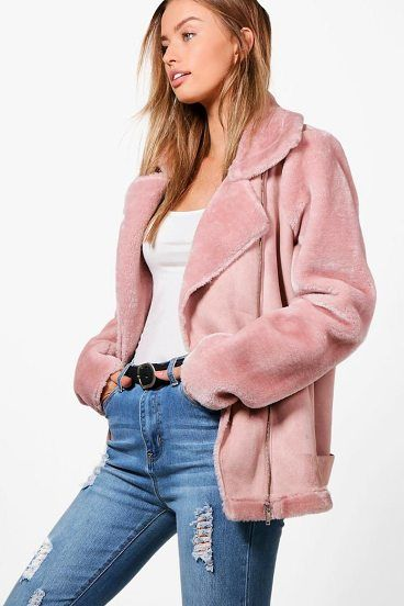 Alex Faux Fur Sleeve Aviator Jacket by Boohoo. Wrap up in the latest coats and jackets and get out-there with your outerwearBreathe life into your new season layering with the latest coats and jackets from boohoo. Supersize your silhouette in a padded jacket, stick to sporty styling ... #boohoo #jackets #outerwear