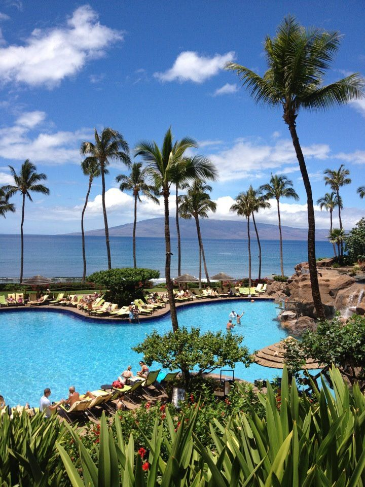 Free-form fantasy pool at the Hyatt Regency Maui Resort and Spa.