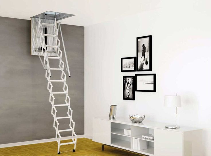 Pull Down Attic Stair In Galvanized Steel With Springs And Dampers Jpg 1 167 865 Pixels Attic Ladder House Interior Interior