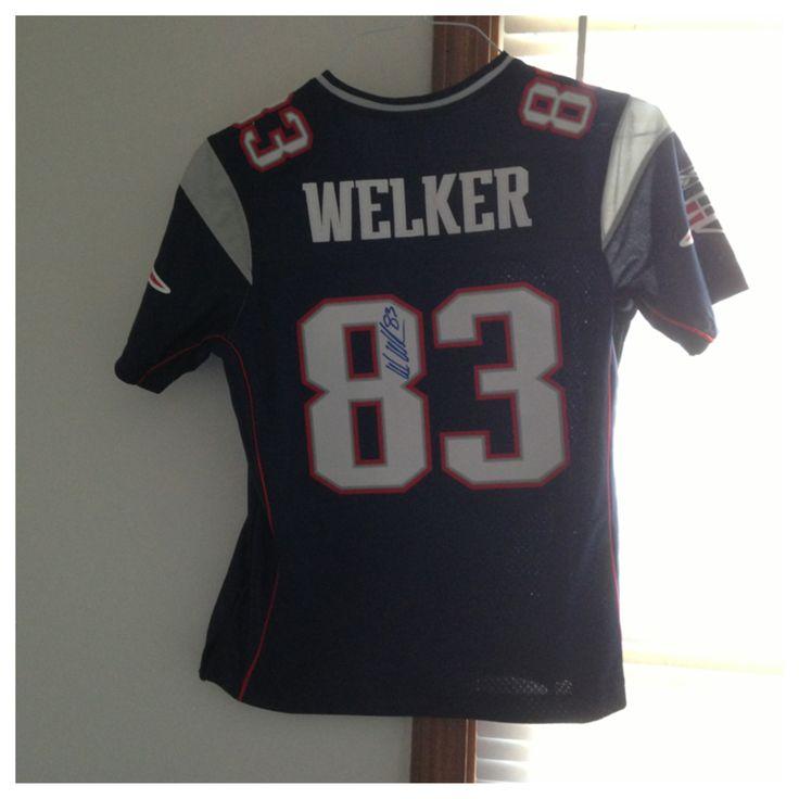 2010 Wes Welker - Replica (Autographed) 2012 Patriots Pro Shop, 2012 WFM Dedham
