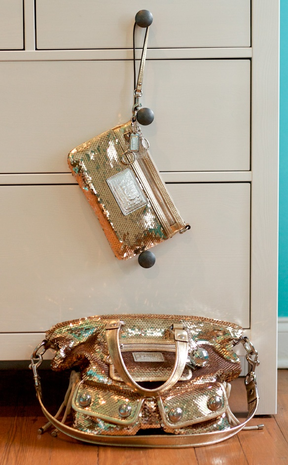 coach poppy bags outlet iuc1  Coach Poppy Zippy wristlet and Coach Poppy Spotlight bag -- both in gold  sequin,