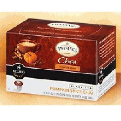 Twinings Keurig Brewed Black Tea Chai Pumpkin Spice -- 12 K-Cups