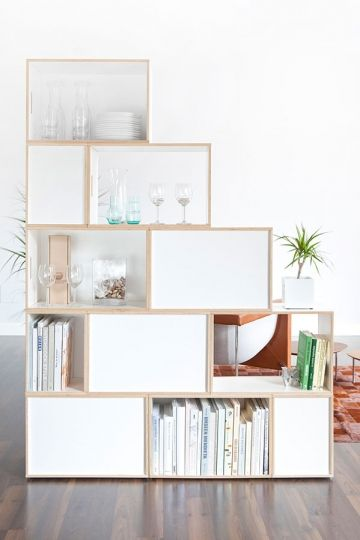 No Built Ins, No Problem: Customizable, Modular Bookshelves That Donu0027t  Require Putting Holes In Your Walls