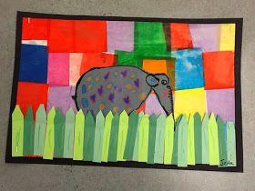WHAT'S HAPPENING IN THE ART ROOM??: 1st Grade Elmer Elephants