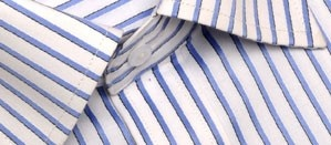 Full sleeve formal shirt in smooth light blue stripes with a front pocket. A classic shirt to pack for weekend getaways or business trips, this shirt never fails to impress.  Style with:  Black,dark blue or dark grey trousers. Team with a slim blue tie for a  modern look.