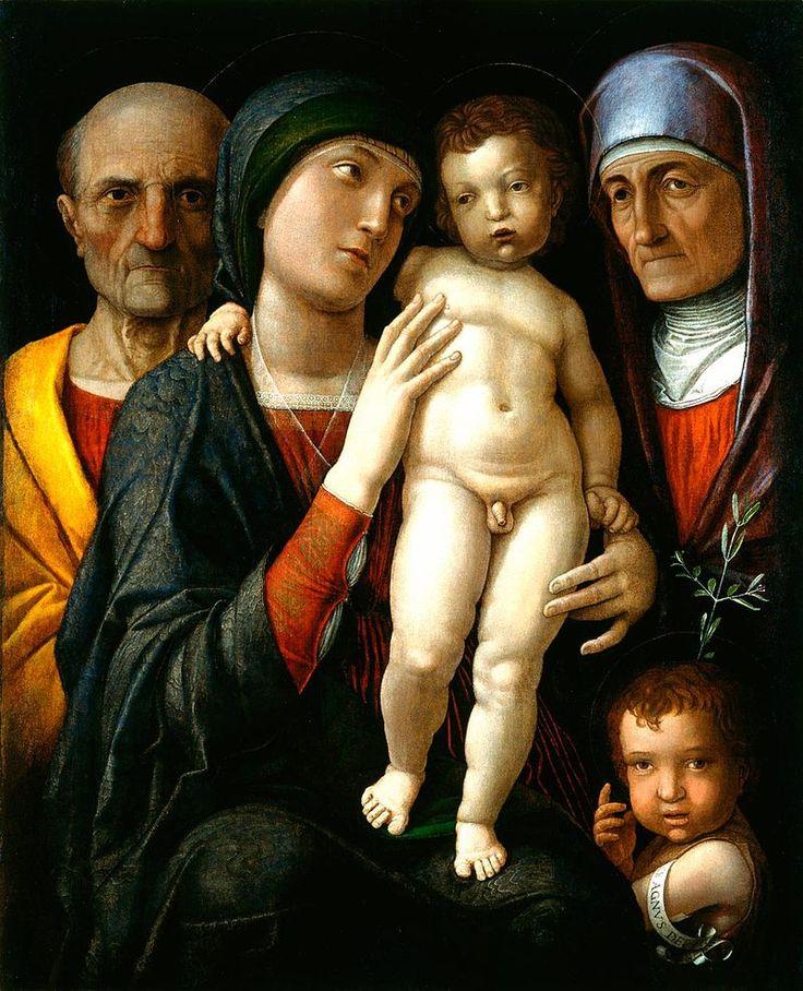 73. 1495-1505 - Sacra Famiglia con sant'Anna e san Giovannino - Dresda, Gemäldegalerie Alte Meister